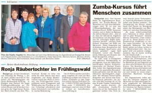 PM Glocke, Zumba Kurs im Jugendzentrum 20.03.2015