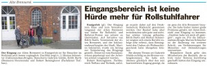 PM Glocke Eingang Alte Brennerei ohne Hindernisse -08.01.2015