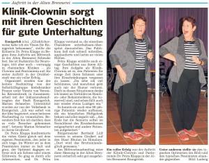 PM Glocke, Bericht zur Veranstaltung mit Frau Dr. Petra Klapps in der Brenne 19.06.2015