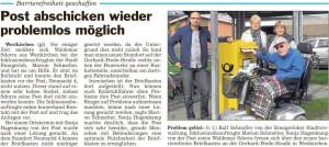 PM Glocke, Briefkasten in Westkrichen jetzt barrierefrei 10.09.2015
